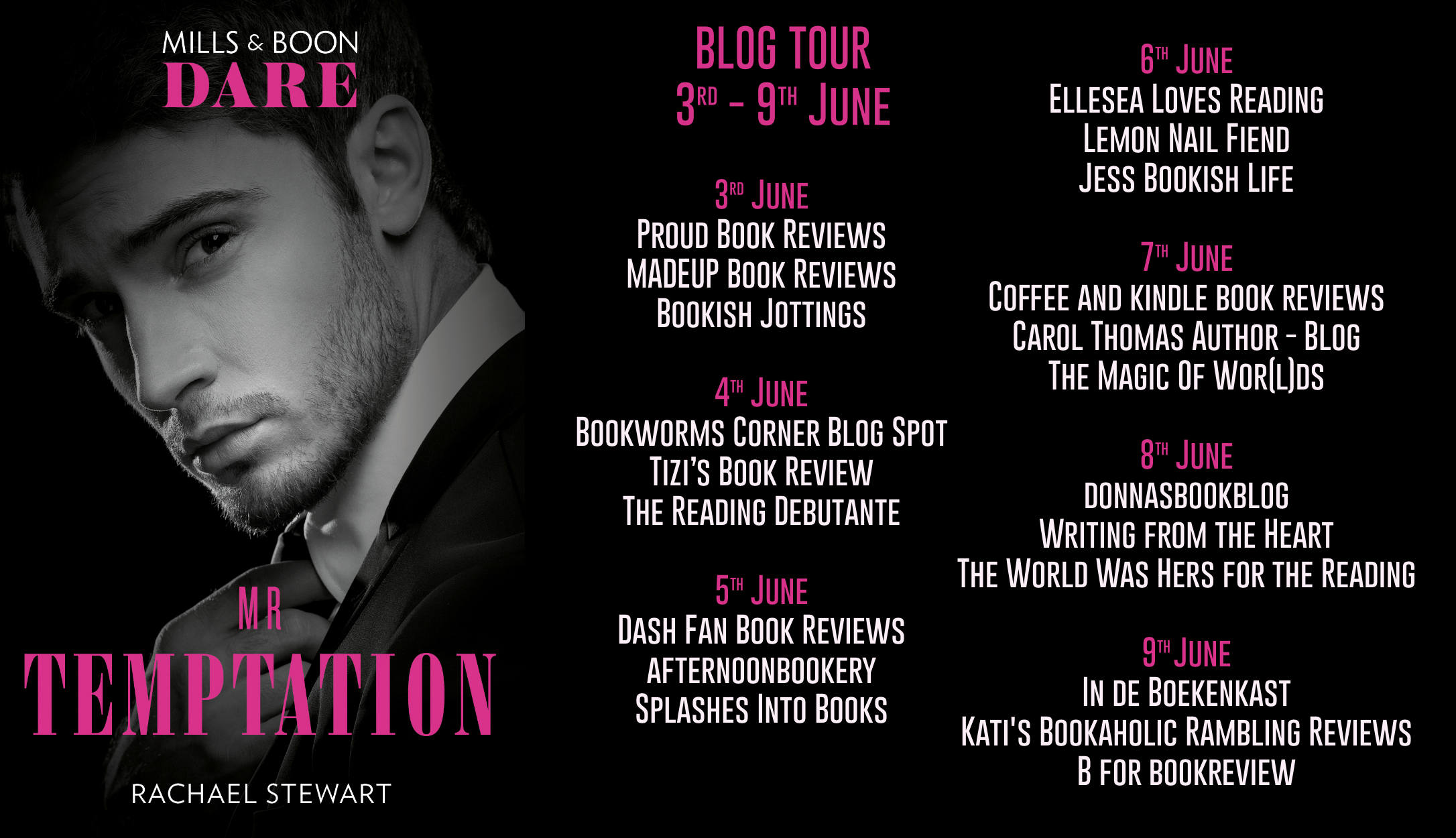 Mr Temptation Blog Tour Dates